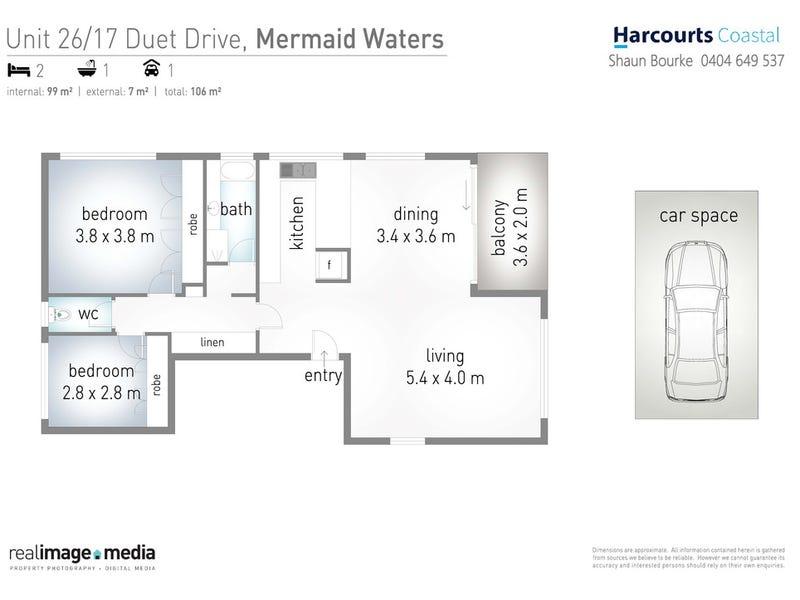 26/17-19 'Aqua Dor' Duet Drive, Mermaid Waters, Qld 4218 - floorplan