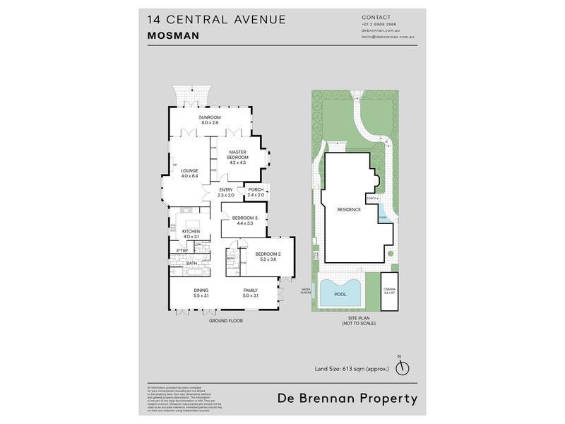 14 Central Avenue, Mosman, NSW 2088 - floorplan