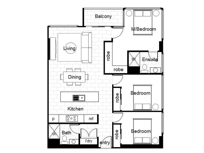 4504/120 A'beckett Street, Melbourne, Vic 3000 - floorplan