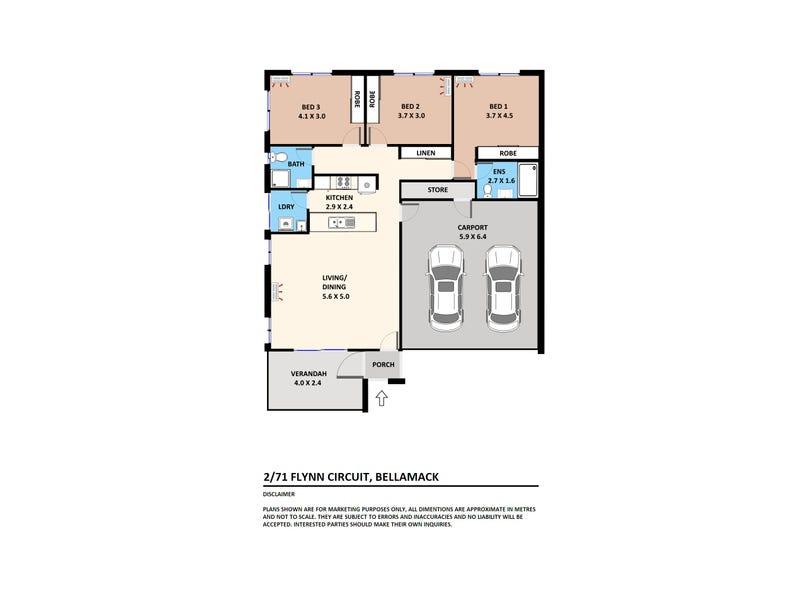 2/71 Flynn Circuit, Bellamack, NT 0832 - floorplan