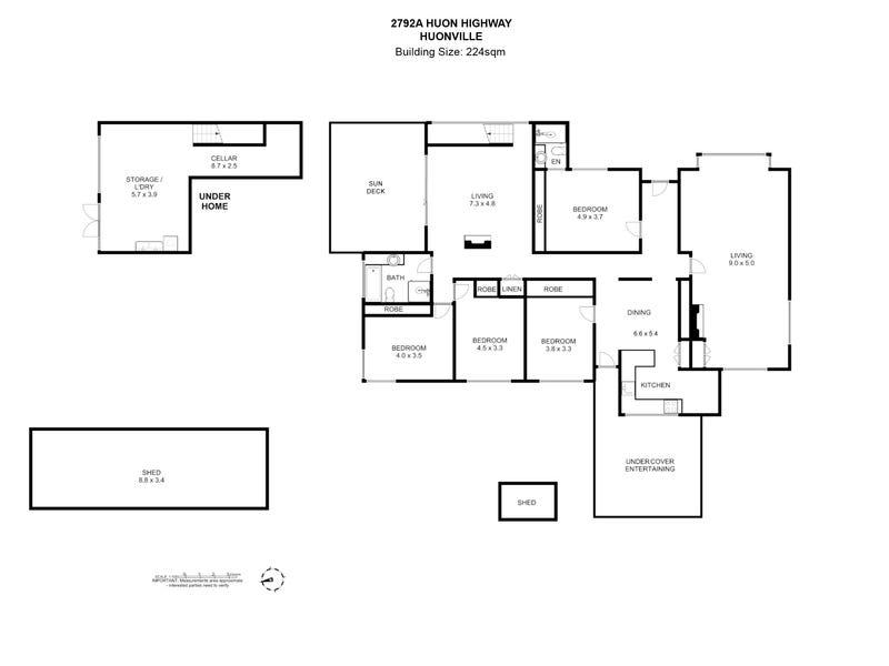 2792A Huon Highway, Huonville, Tas 7109 - floorplan