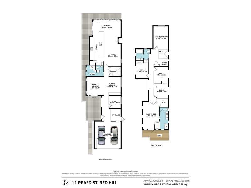 11 Praed Street, Red Hill, Qld 4059 - floorplan