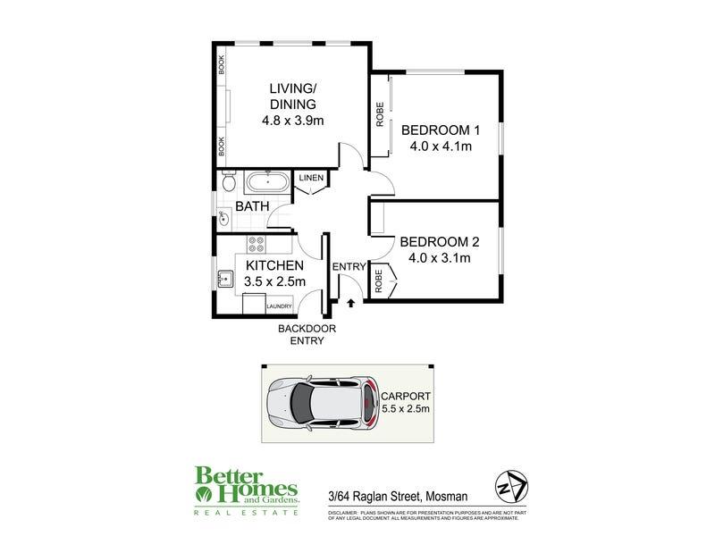 3/64 Raglan Street, Mosman, NSW 2088 - floorplan