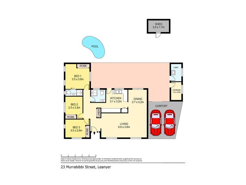23 Murrabibbi Street, Leanyer, NT 0812 - floorplan