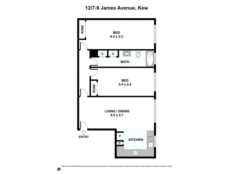 12/7-9 James Avenue, Kew, Vic 3101 - floorplan