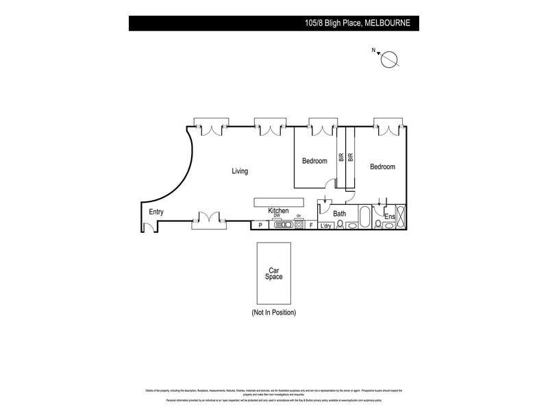 105/8 Bligh Place, Melbourne, Vic 3000 - floorplan