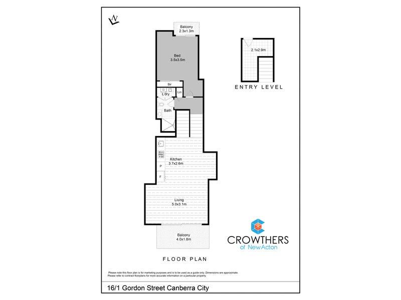 16/1 Gordon Street, City, ACT 2601 - floorplan