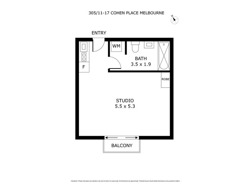 304/11-17 Cohen Place, Melbourne, Vic 3000 - floorplan