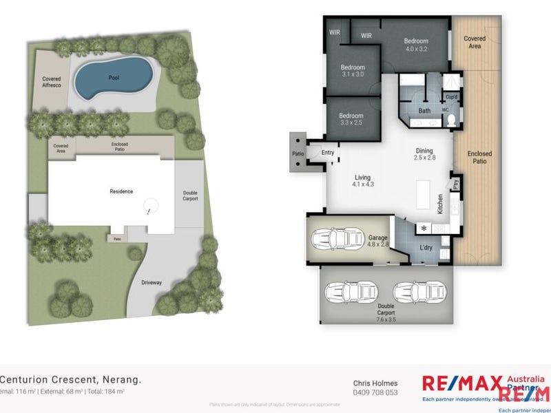 8 Centurion Crescent, Nerang, Qld 4211 - floorplan