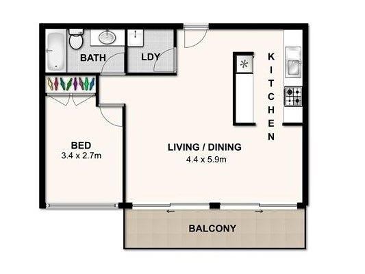 98/204 Alice Street, Brisbane City, Qld 4000 - floorplan