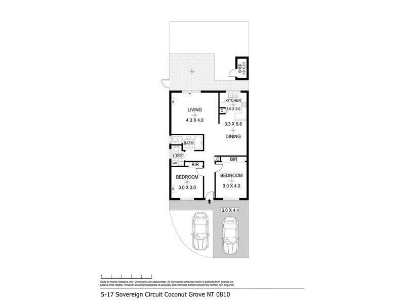 5/17 Sovereign Circuit, Coconut Grove, NT 0810 - floorplan