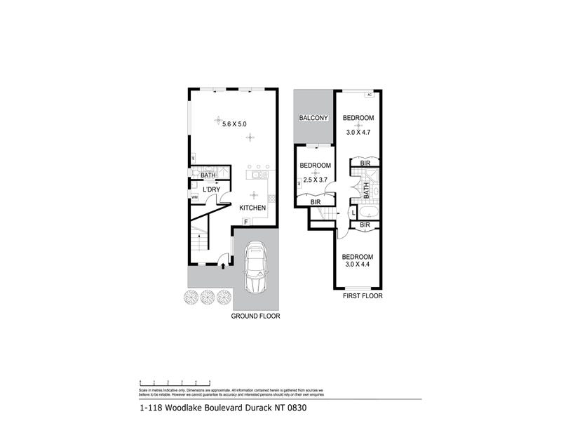1/118 Woodlake Boulevard, Durack, NT 0830 - floorplan