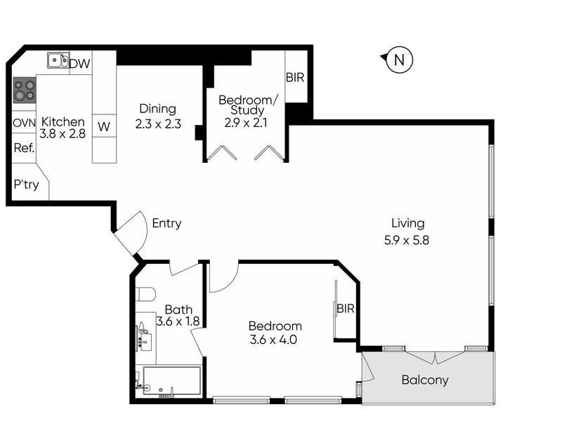 9c/27-37 Russell Street, Melbourne, Vic 3000 - floorplan