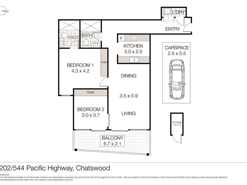 202/544 Pacific Highway, Chatswood, NSW 2067 - floorplan