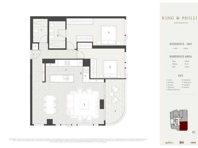 1805/148-160 King Street, Sydney, NSW 2000 - floorplan