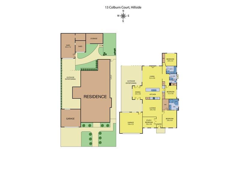 13 Colburn Court, Hillside, Vic 3037 - floorplan