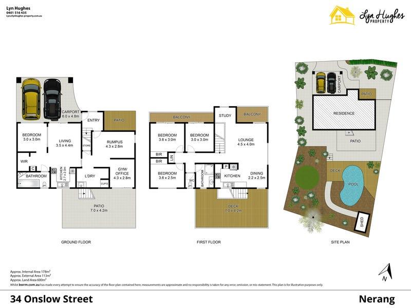 34 Onslow Street, Nerang, Qld 4211 - floorplan