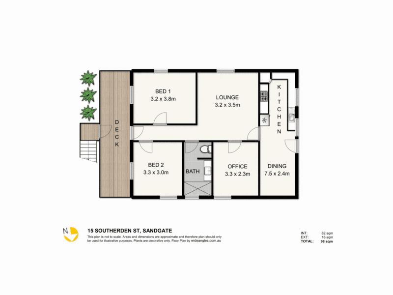 15 Southerden St, Sandgate, Qld 4017 - floorplan