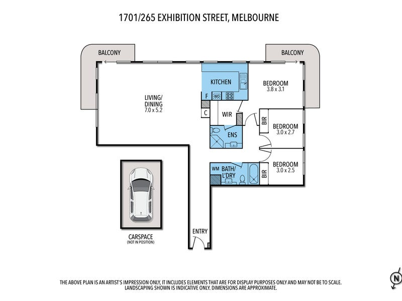 1701/265 Exhibition St, Melbourne, Vic 3000 - floorplan
