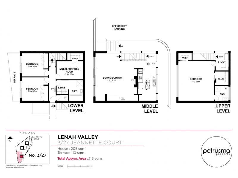 3/27 Jeannette Court, Lenah Valley, Tas 7008 - floorplan