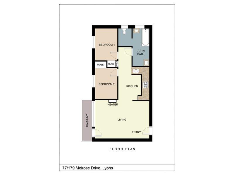 77/179 Melrose Drive, Lyons, ACT 2606 - floorplan