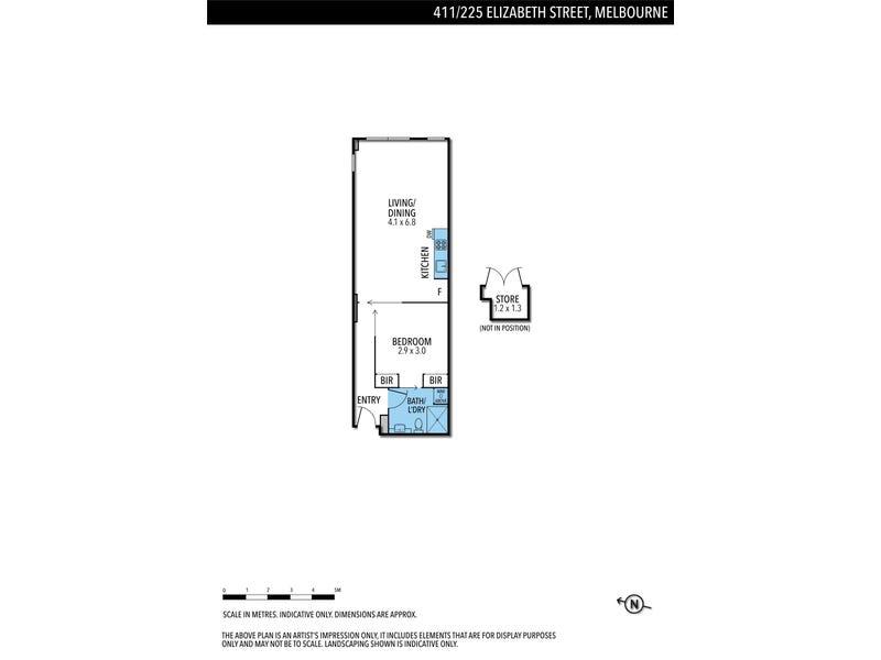 411/225 Elizabeth Street, Melbourne, Vic 3000 - floorplan