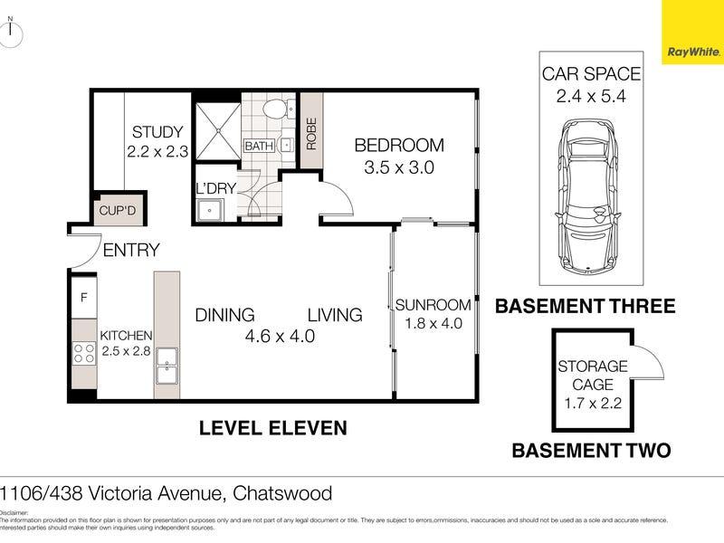 1106/438 Victoria Avenue, Chatswood, NSW 2067 - floorplan