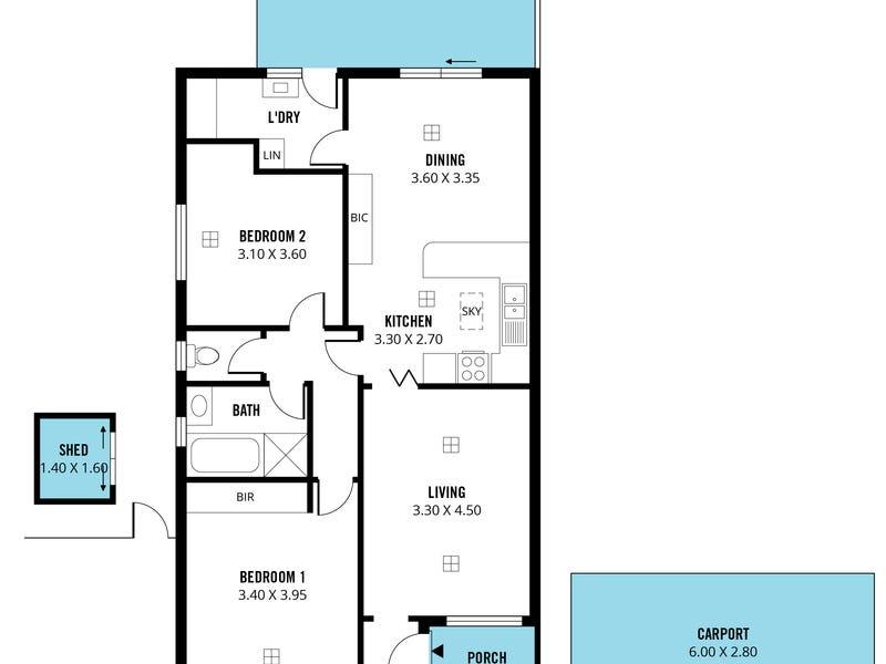 1/49 Alison Drive, Happy Valley, SA 5159 - floorplan