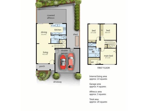 2/42 Bentons Road, Mount Martha, Vic 3934 - floorplan