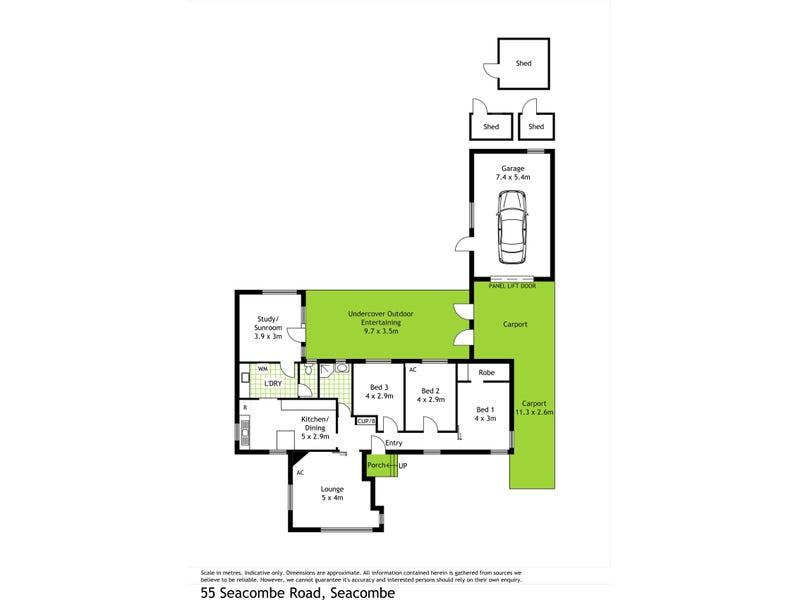 55 Secombe road, Seacombe Gardens, SA 5047 - floorplan