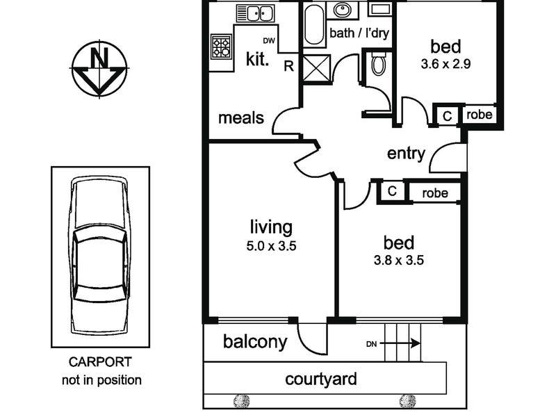 2/46 Disraeli Street, Kew, Vic 3101 - floorplan
