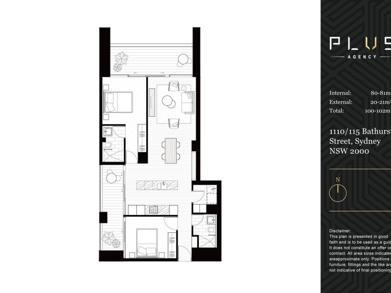 1110/115 Bathurst Street, Sydney, NSW 2000 - floorplan