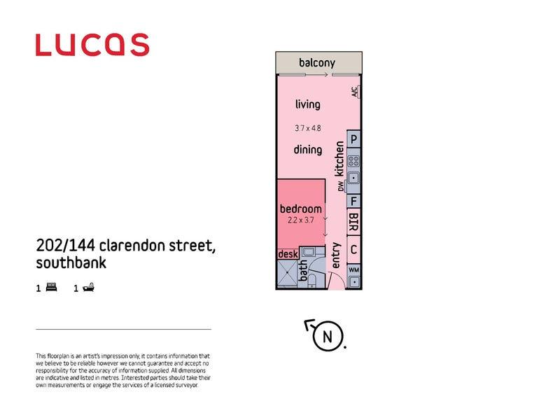 202/144 Clarendon Street, Southbank, Vic 3006 - floorplan