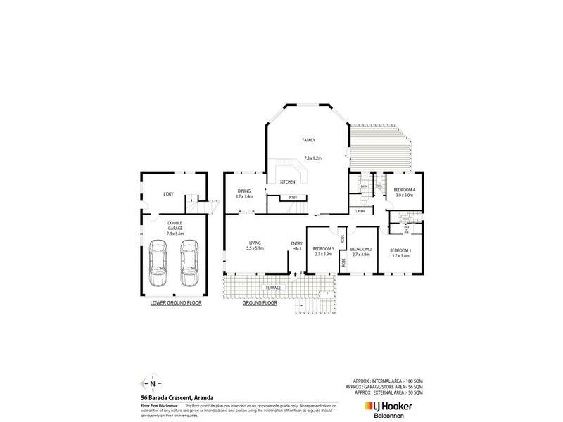 56 Barada Crescent, Aranda, ACT 2614 - floorplan