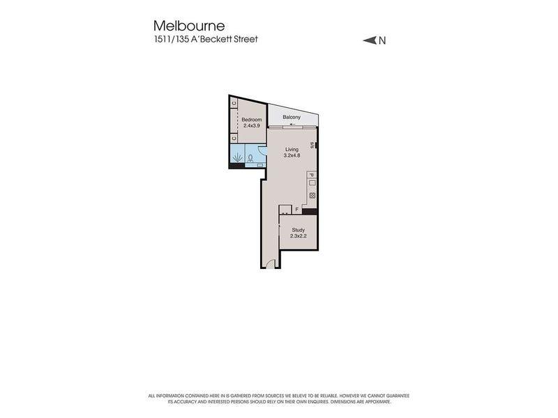 1511/135 A'beckett Street, Melbourne, Vic 3000 - floorplan