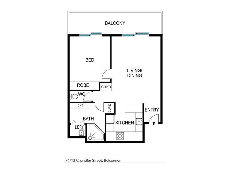 71/13 Chandler Street, Belconnen, ACT 2617 - floorplan
