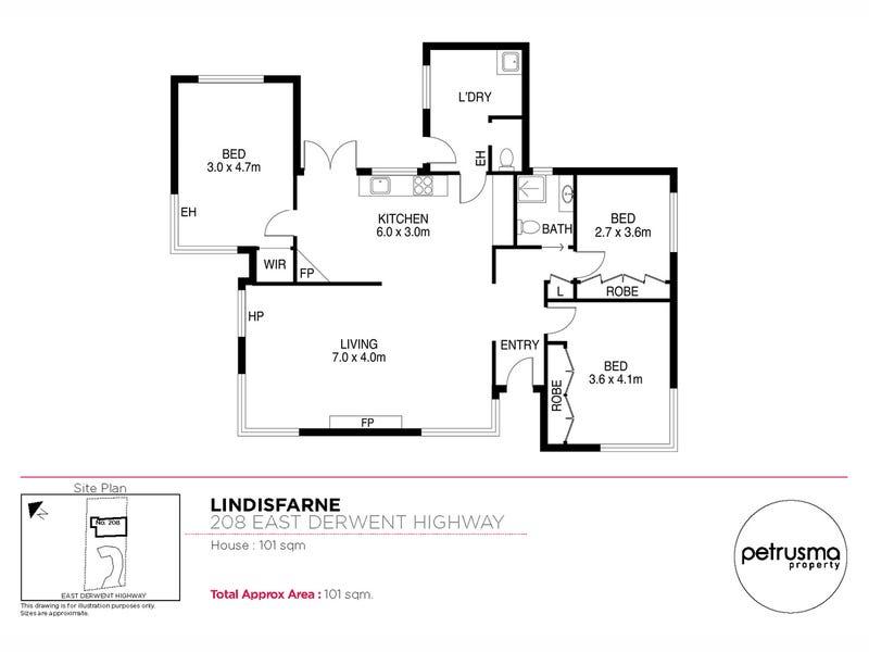 208 East Derwent Highway, Lindisfarne, Tas 7015 - floorplan