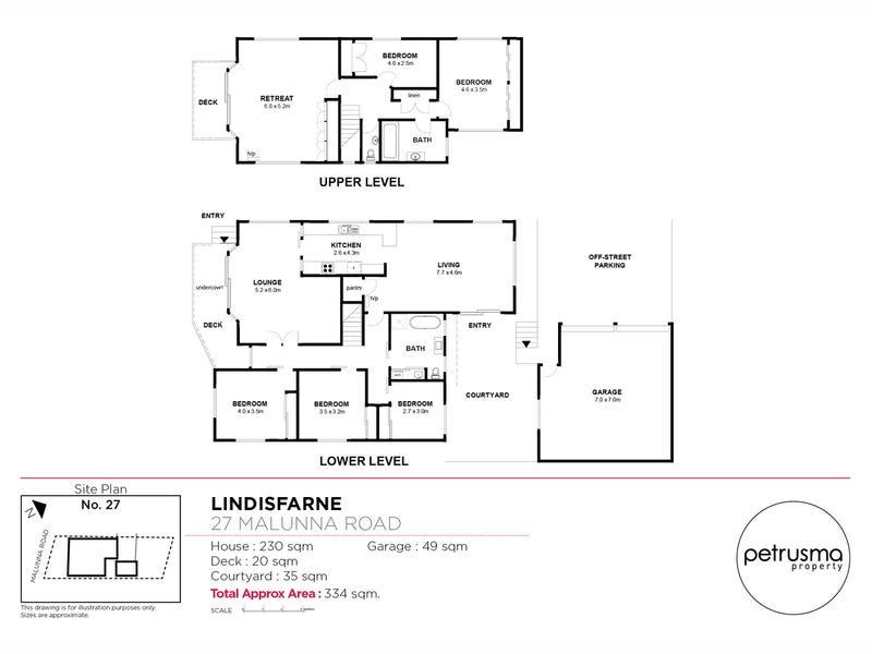 27 Malunna Road, Lindisfarne, Tas 7015 - floorplan