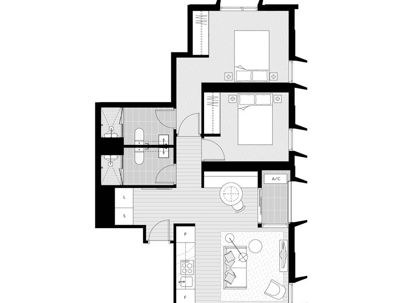4302/398 Elizabeth Street, Melbourne, Vic 3000 - floorplan