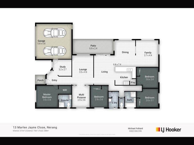 13 Marlee Jayne Close, Nerang, Qld 4211 - floorplan