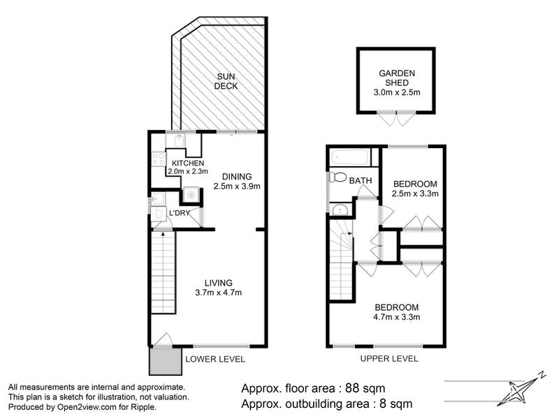 1/4 Mowbray Court, Lenah Valley, Tas 7008 - floorplan