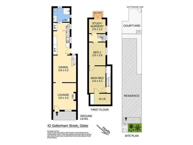 42 Gottenham Street, Glebe, NSW 2037 - floorplan