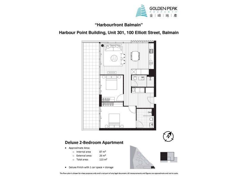 301/100 Elliott Street, Balmain, NSW 2041 - floorplan