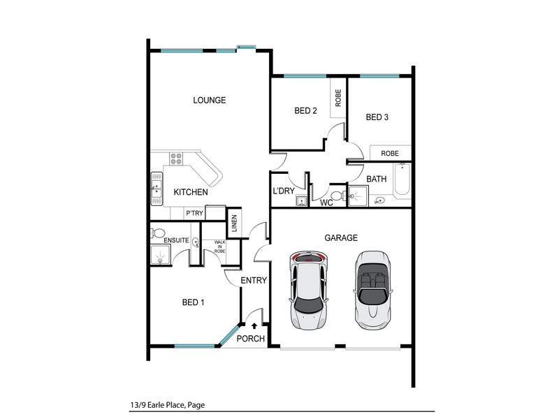 13/9 Earle Place, Page, ACT 2614 - floorplan