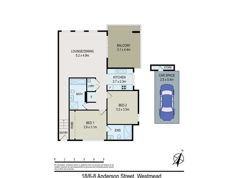 18/6-8 Anderson street, Westmead, NSW 2145 - floorplan