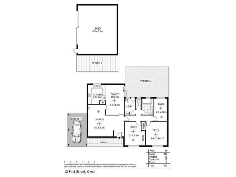 12 First Street, Owen, SA 5460 - floorplan