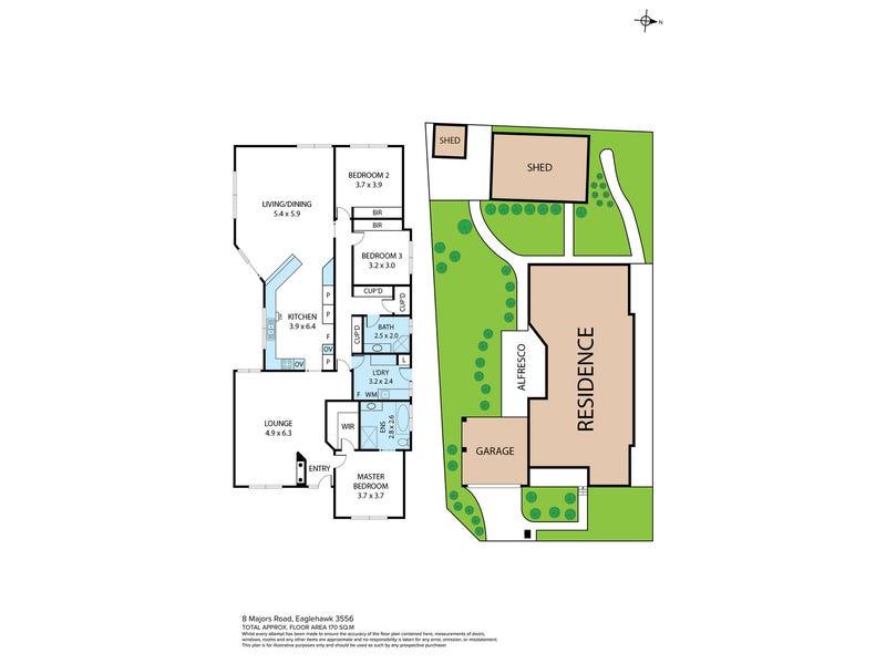 8 Majors Road, Eaglehawk, Vic 3556 - floorplan