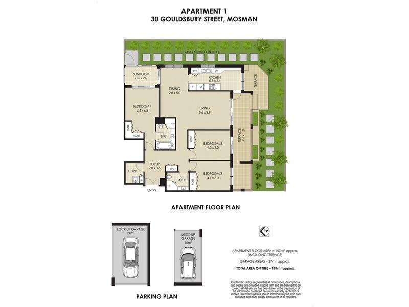 1/30 Gouldsbury Street, Mosman, NSW 2088 - floorplan