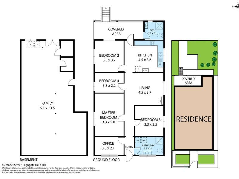 46 Mabel Street, Highgate Hill, Qld 4101 - floorplan