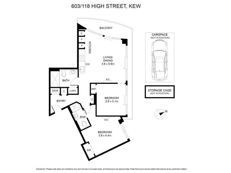 603/118 High Street, Kew, Vic 3101 - floorplan